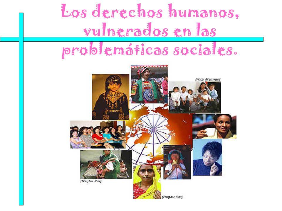 Los derechos humanos, vulnerados en las problemáticas sociales.