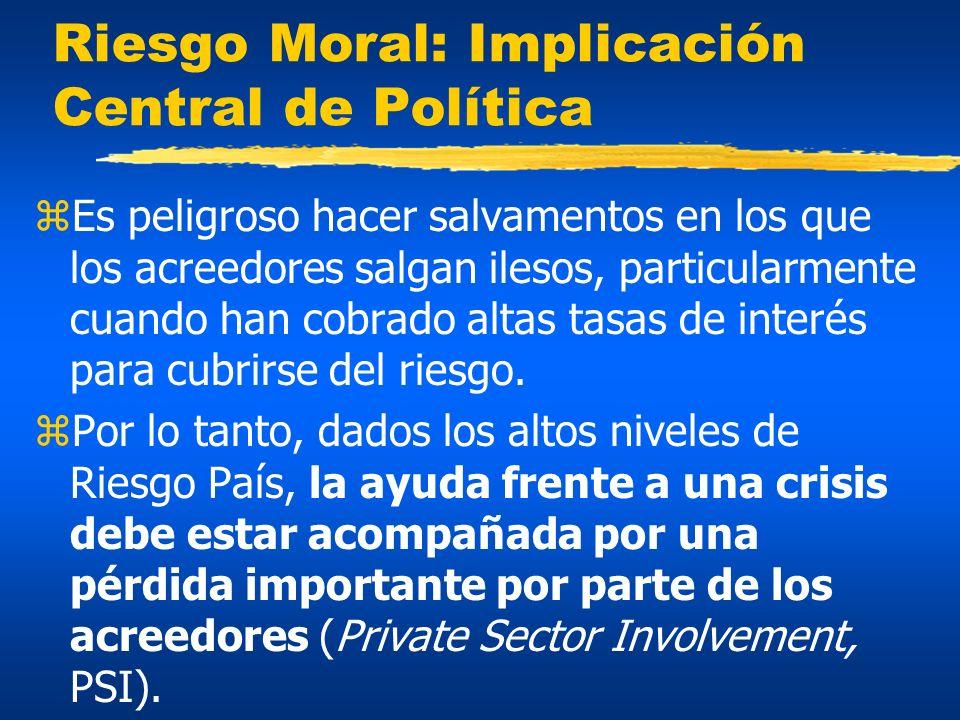 Riesgo Moral: Implicación Central de Política