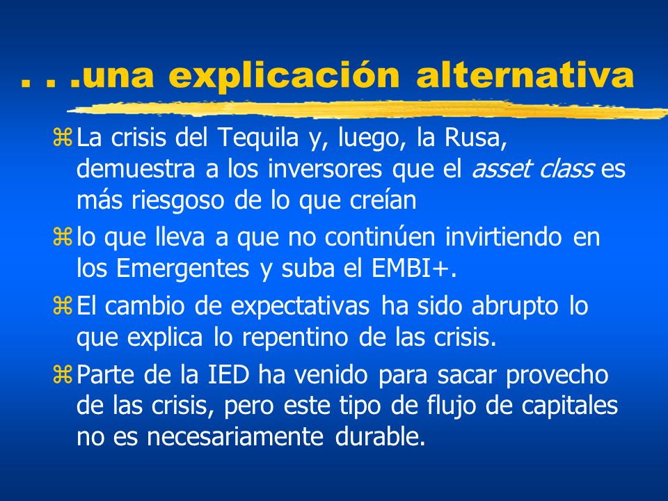. . .una explicación alternativa