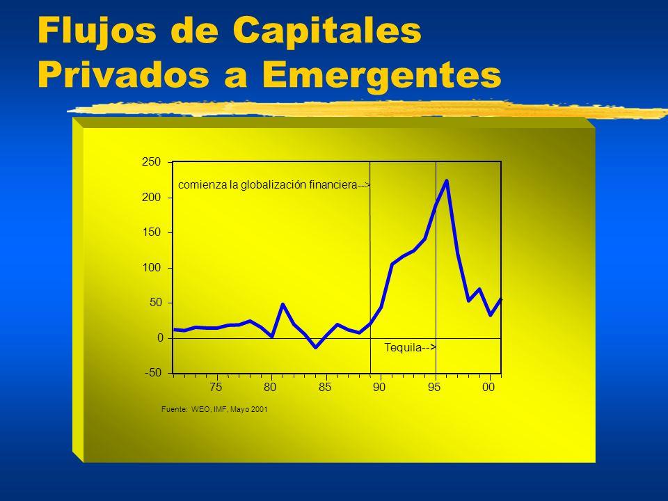 Flujos de Capitales Privados a Emergentes