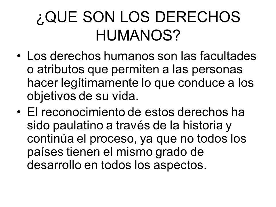 ¿QUE SON LOS DERECHOS HUMANOS