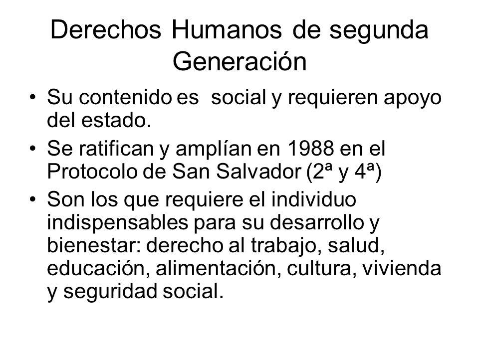 Derechos Humanos de segunda Generación