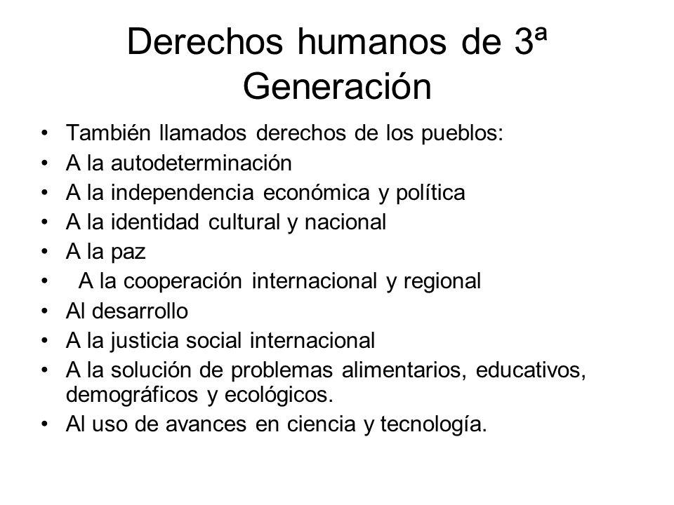 Derechos humanos de 3ª Generación