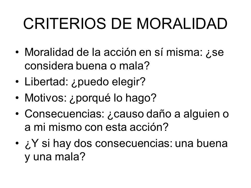 CRITERIOS DE MORALIDAD