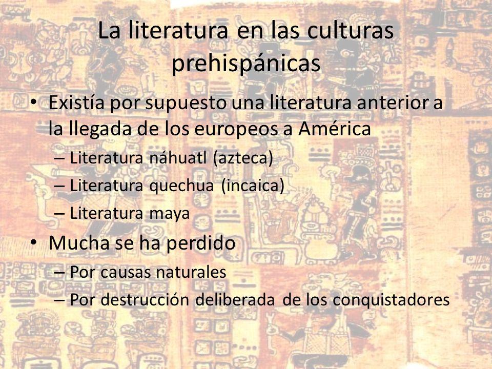 La literatura en las culturas prehispánicas