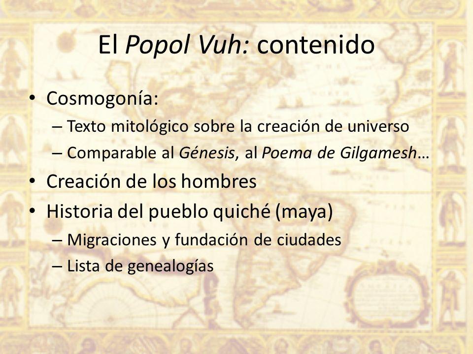 El Popol Vuh: contenido