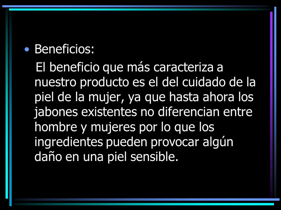 Beneficios: