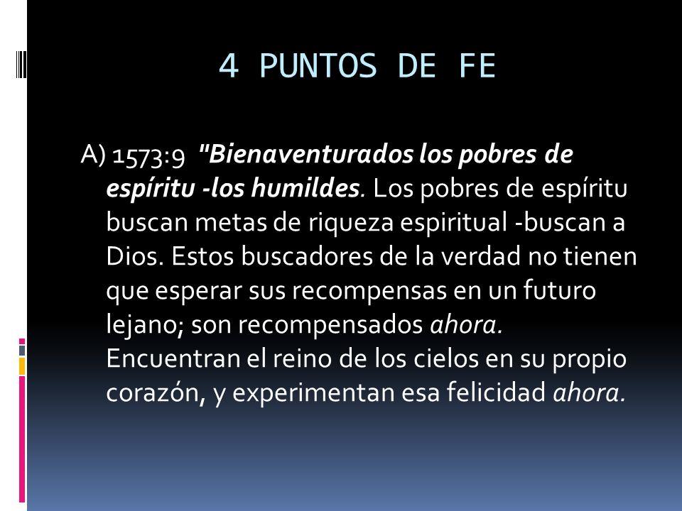 4 PUNTOS DE FE