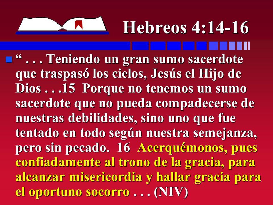 Hebreos 4:14-16