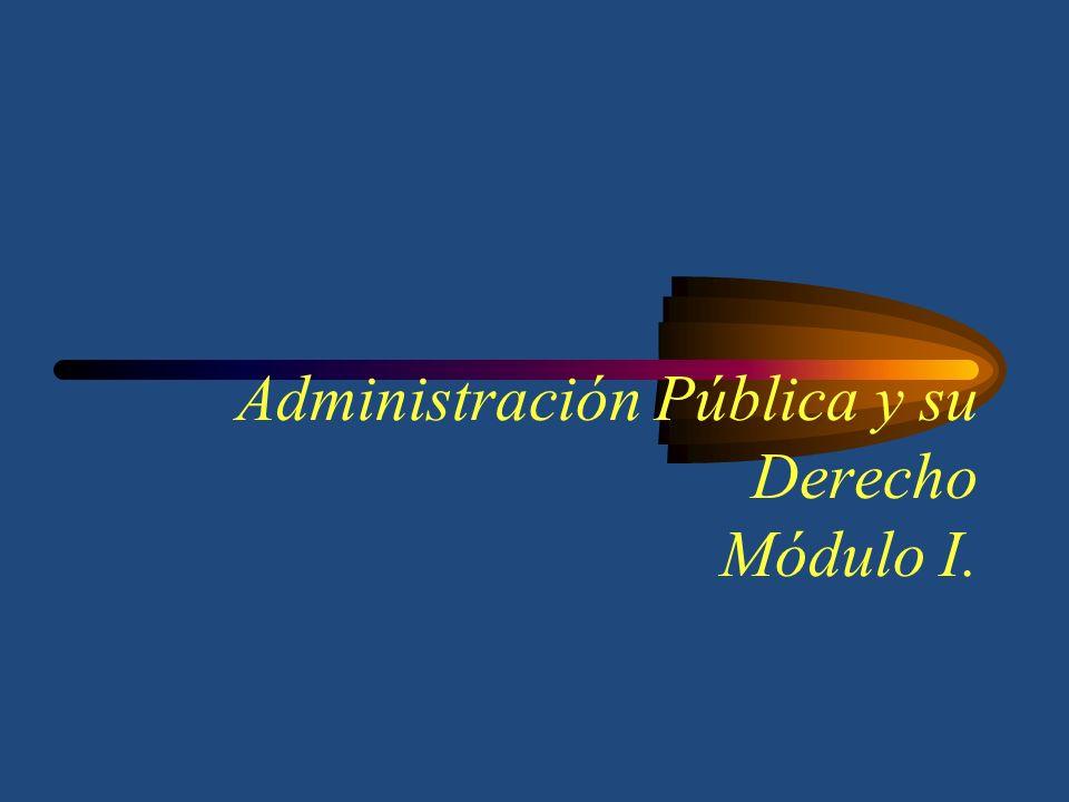 Administración Pública y su Derecho Módulo I.