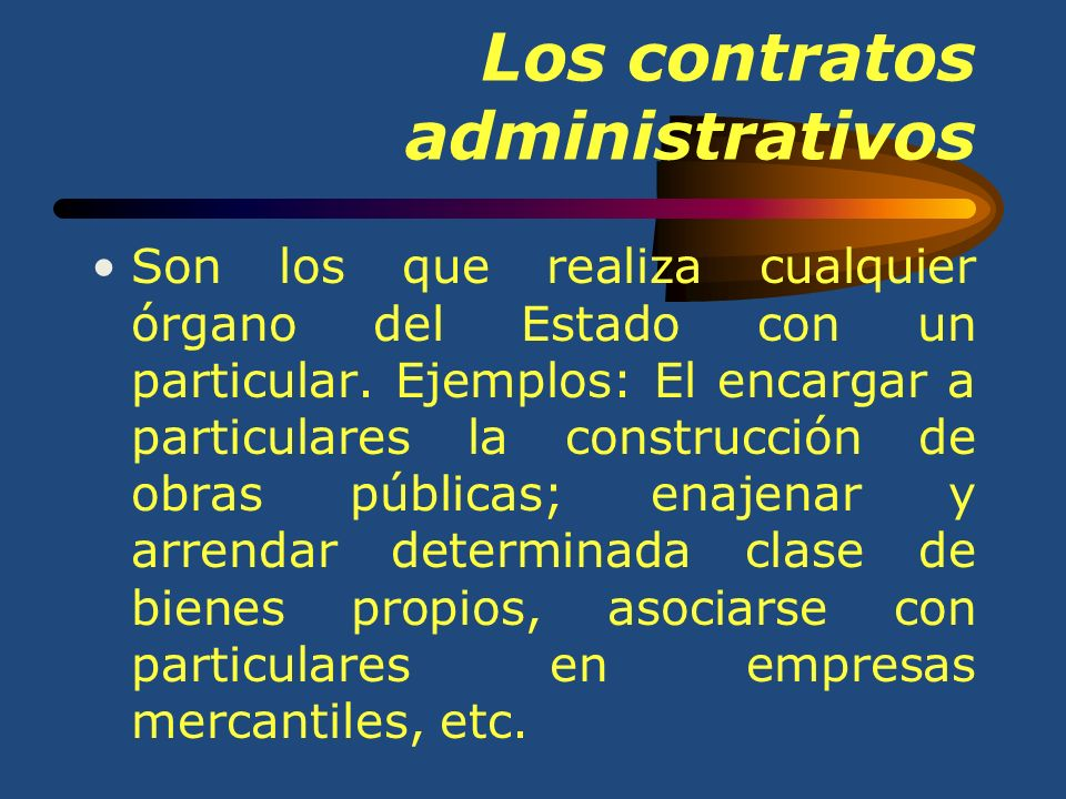 Los contratos administrativos
