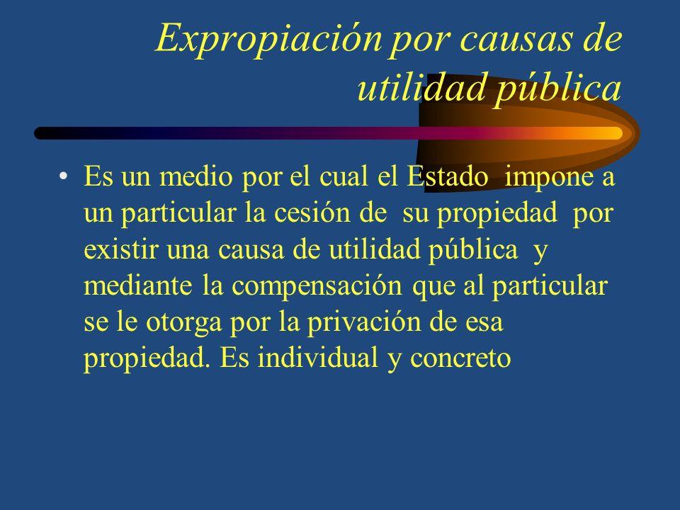 Expropiación por causas de utilidad pública