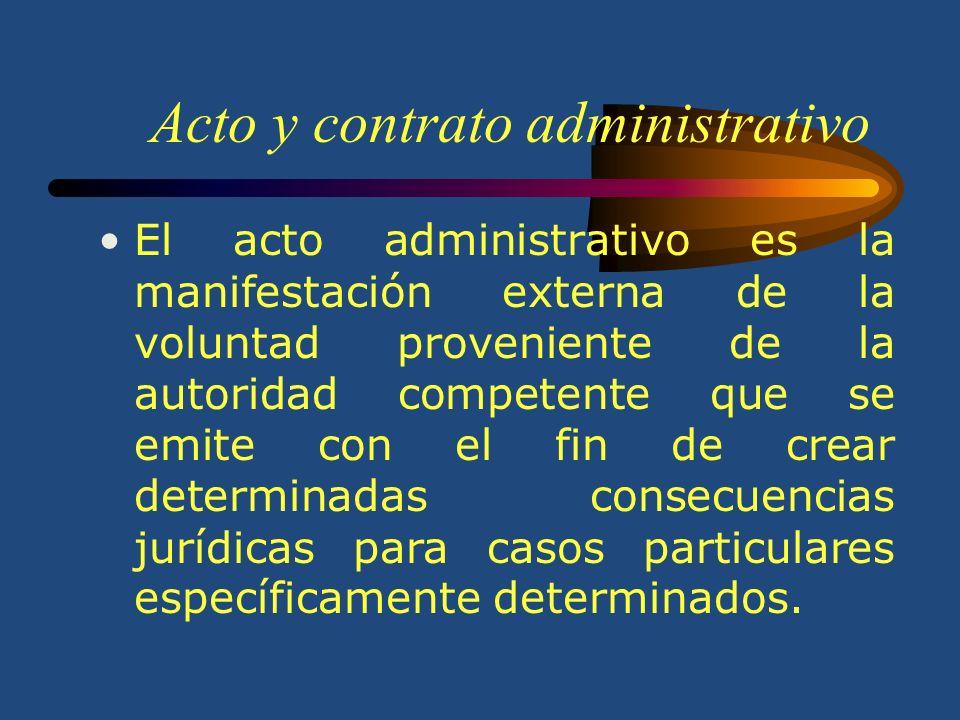 Acto y contrato administrativo