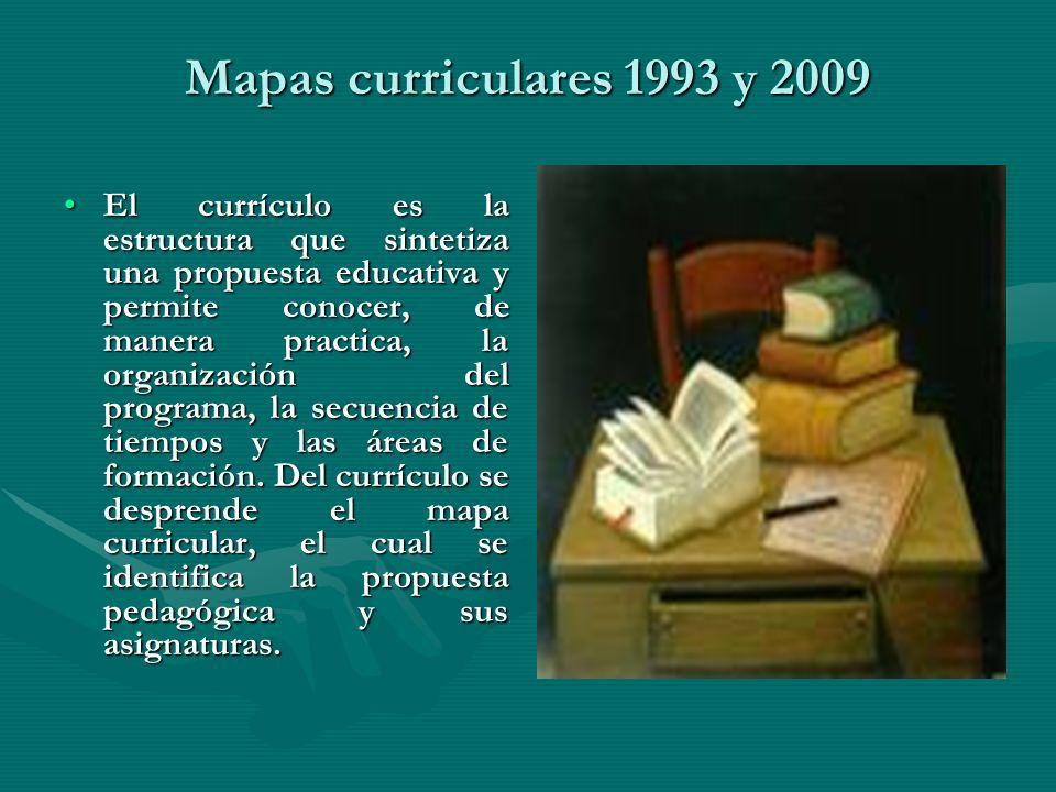 Mapas curriculares 1993 y 2009