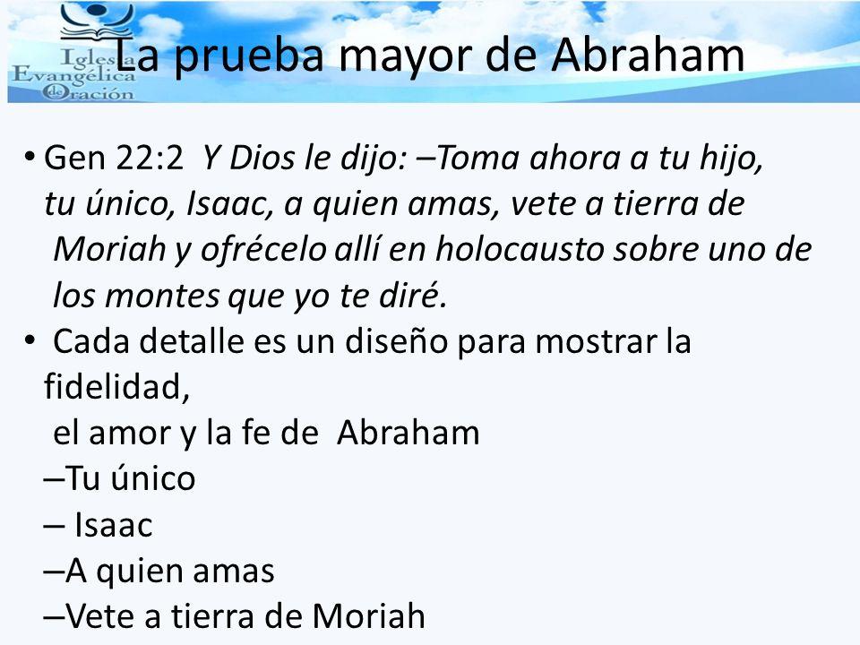 La prueba mayor de Abraham
