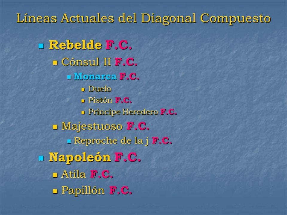 Líneas Actuales del Diagonal Compuesto