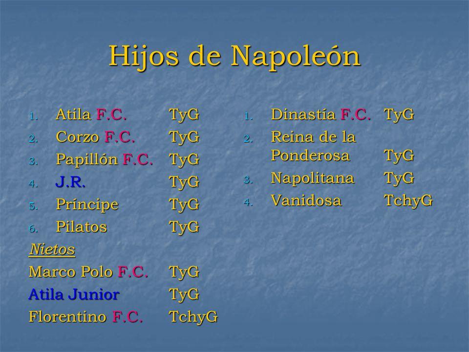 Hijos de Napoleón Atila F.C. TyG Corzo F.C. TyG Papillón F.C. TyG