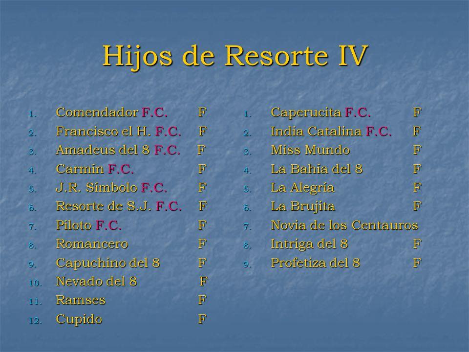 Hijos de Resorte IV Comendador F.C. F Francisco el H. F.C. F