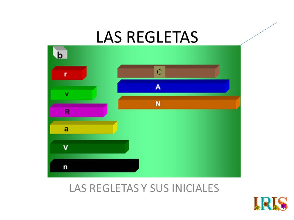 LAS REGLETAS Y SUS INICIALES