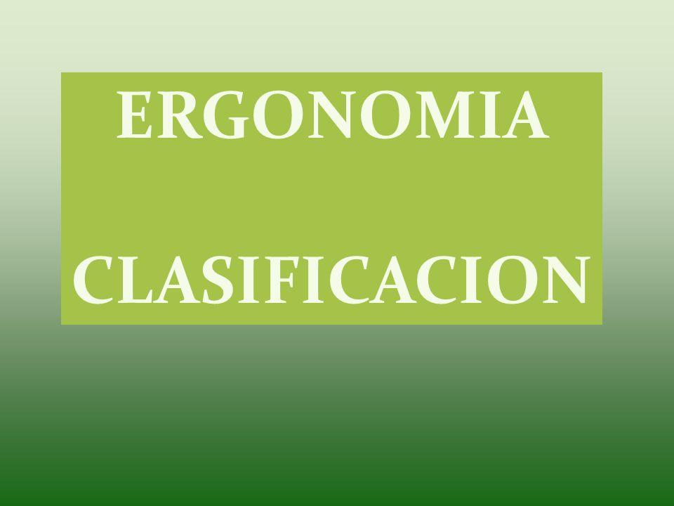 ERGONOMIA CLASIFICACION