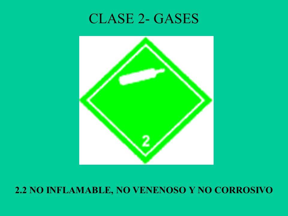 2.2 NO INFLAMABLE, NO VENENOSO Y NO CORROSIVO