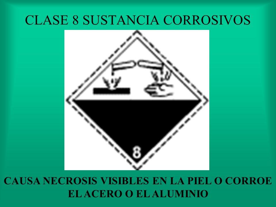 CLASE 8 SUSTANCIA CORROSIVOS