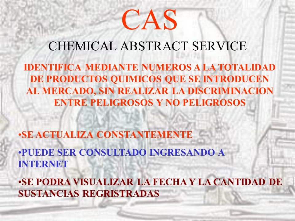 CAS CHEMICAL ABSTRACT SERVICE