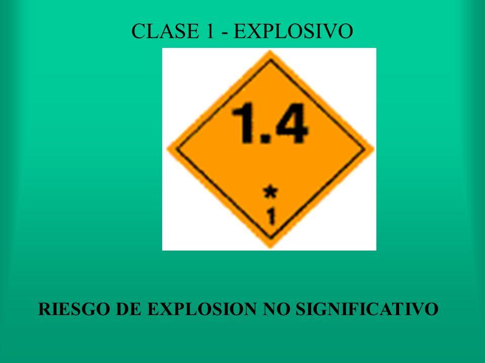 RIESGO DE EXPLOSION NO SIGNIFICATIVO