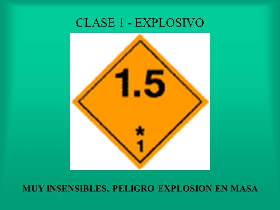 MUY INSENSIBLES, PELIGRO EXPLOSION EN MASA