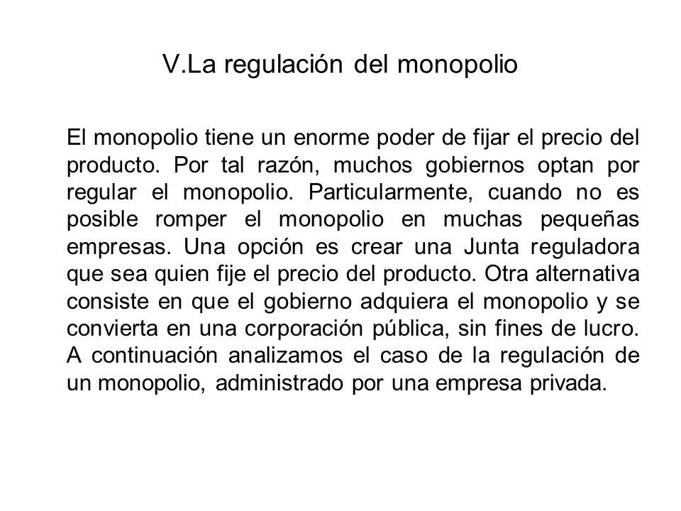 V.La regulación del monopolio
