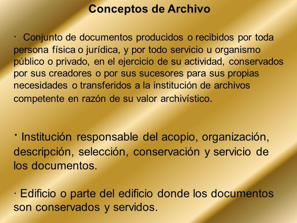 Conceptos de Archivo
