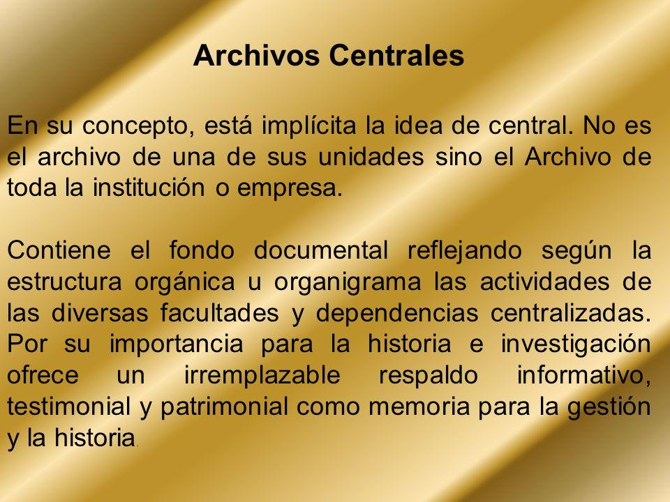 Archivos Centrales