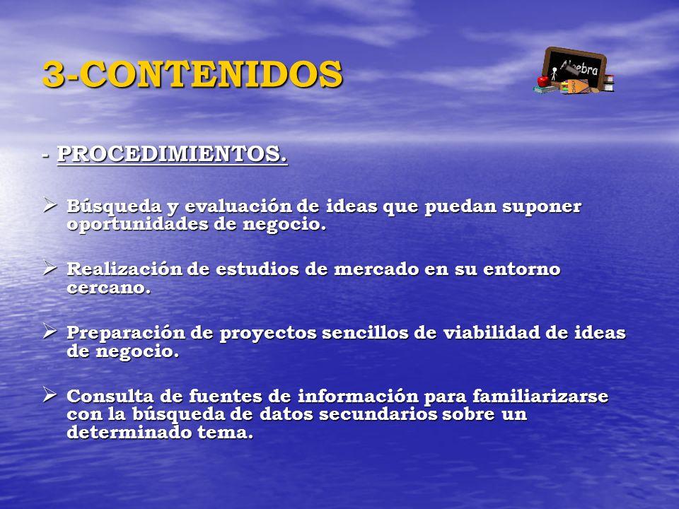 3-CONTENIDOS - PROCEDIMIENTOS.