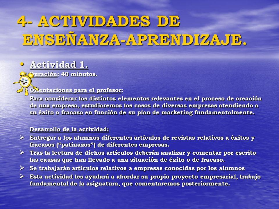 4- ACTIVIDADES DE ENSEÑANZA-APRENDIZAJE.