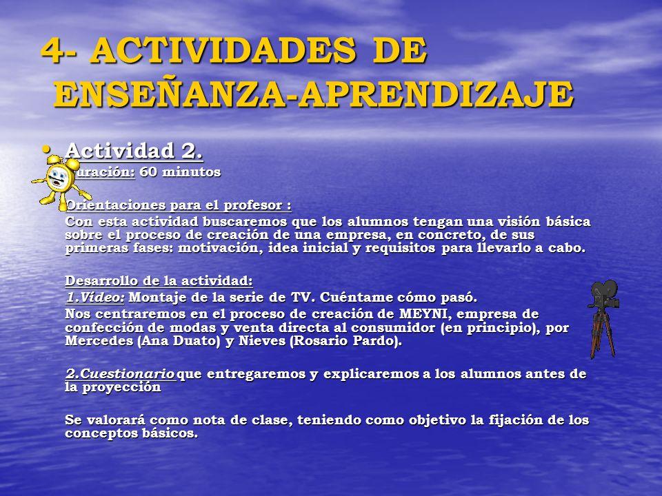 4- ACTIVIDADES DE ENSEÑANZA-APRENDIZAJE