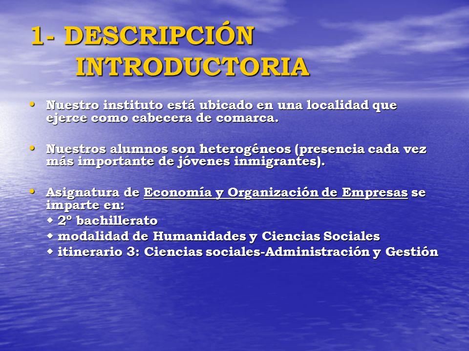 1- DESCRIPCIÓN INTRODUCTORIA