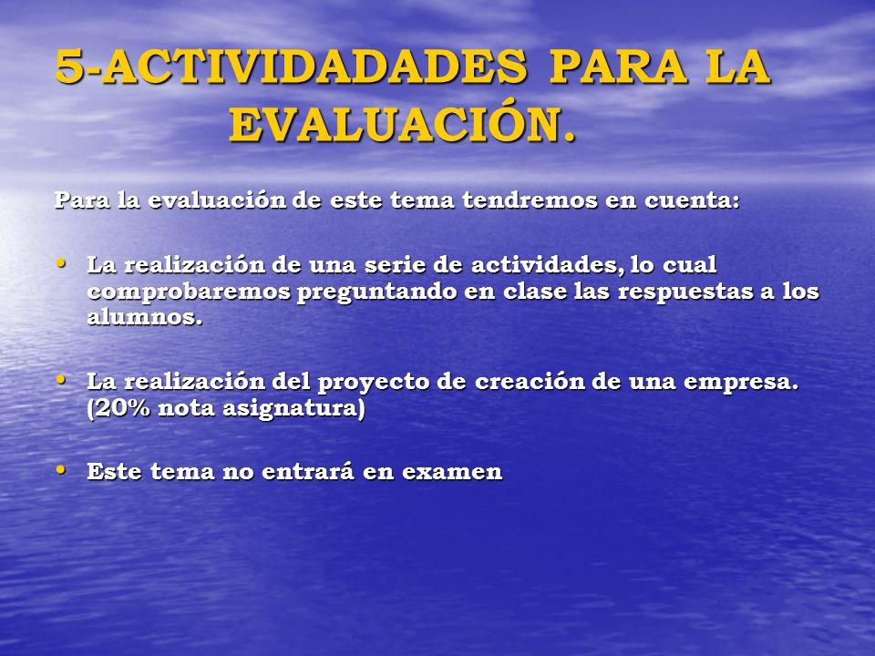 5-ACTIVIDADADES PARA LA EVALUACIÓN.