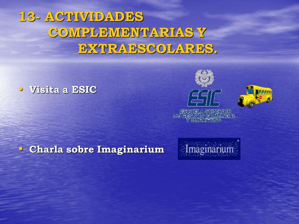 13- ACTIVIDADES COMPLEMENTARIAS Y EXTRAESCOLARES.