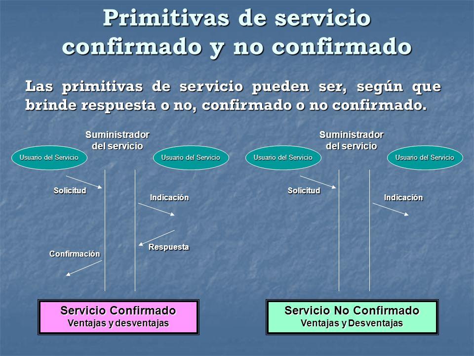 Primitivas de servicio confirmado y no confirmado
