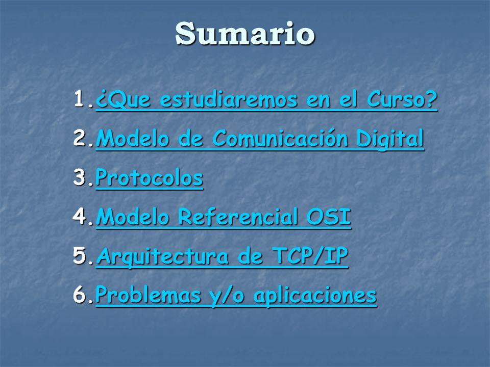 Sumario ¿Que estudiaremos en el Curso Modelo de Comunicación Digital