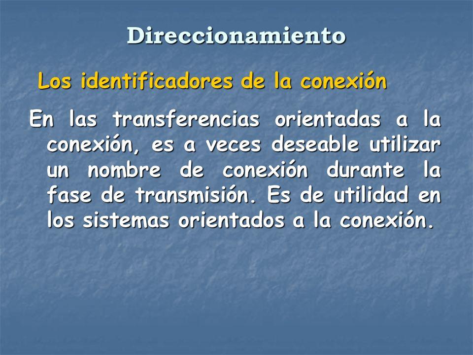Direccionamiento Los identificadores de la conexión