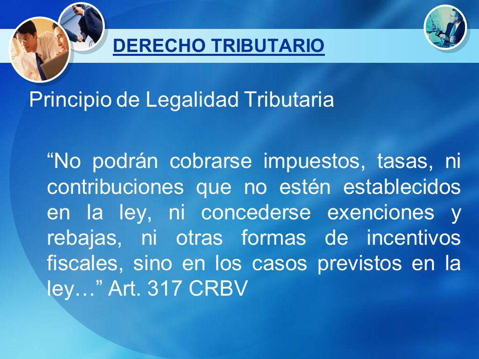 Principio de Legalidad Tributaria