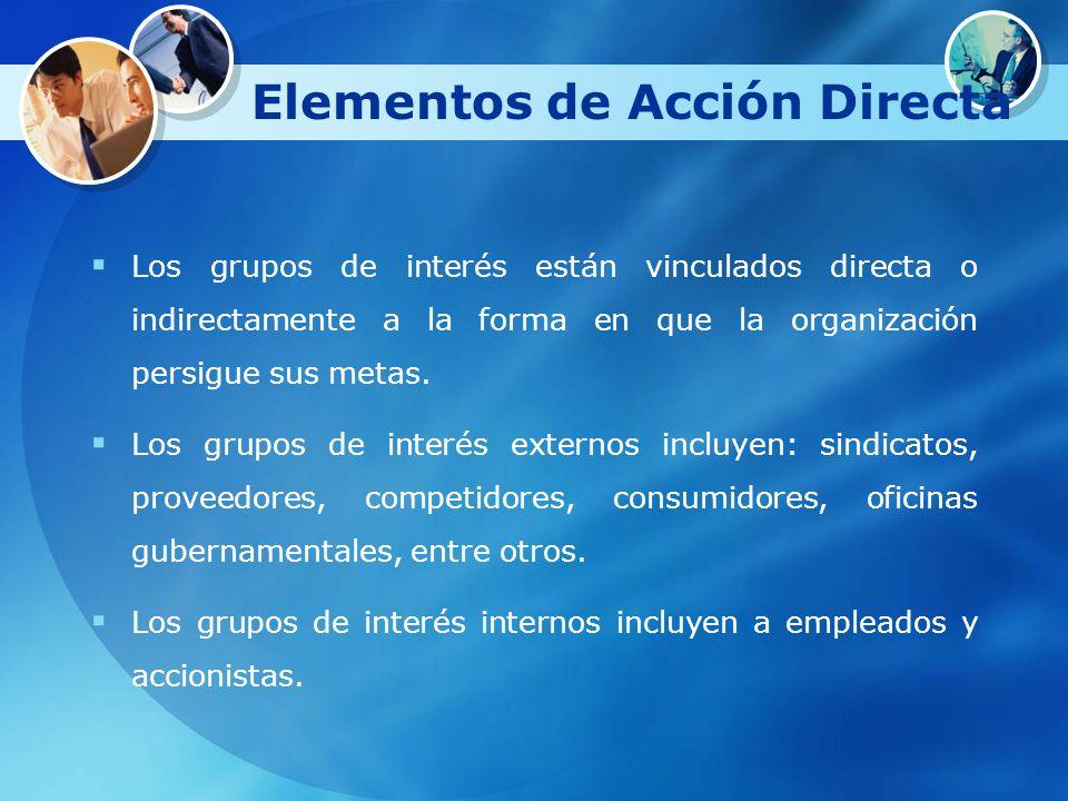 Elementos de Acción Directa