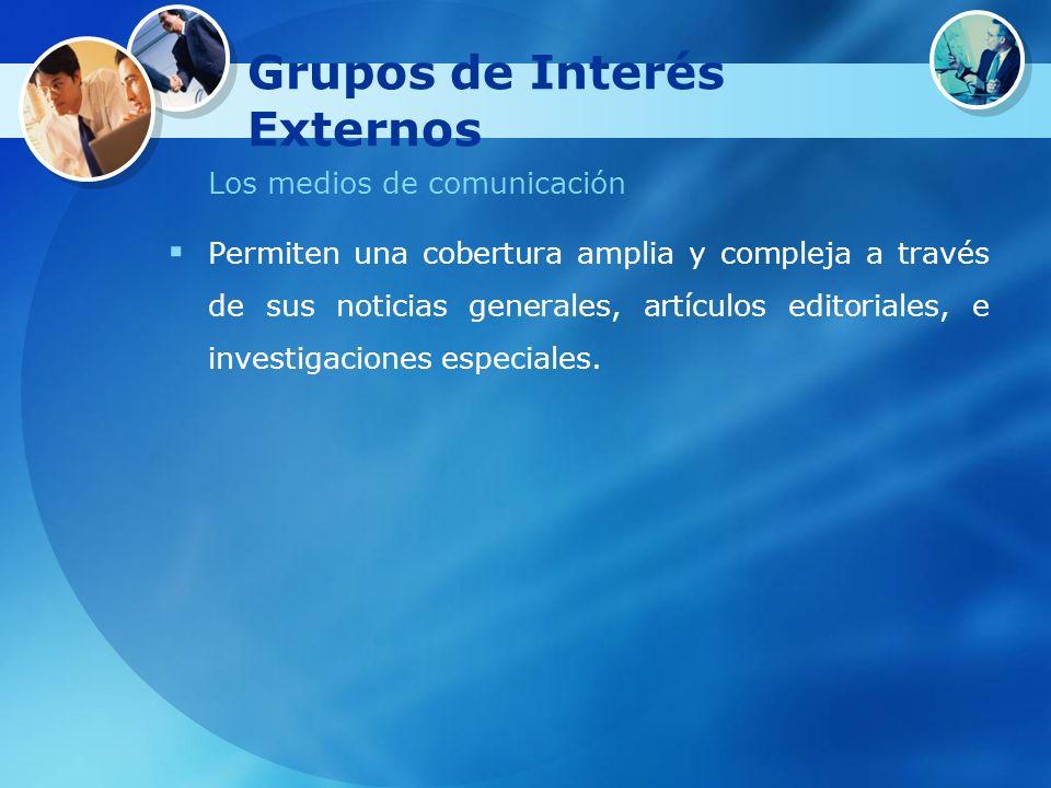 Grupos de Interés Externos