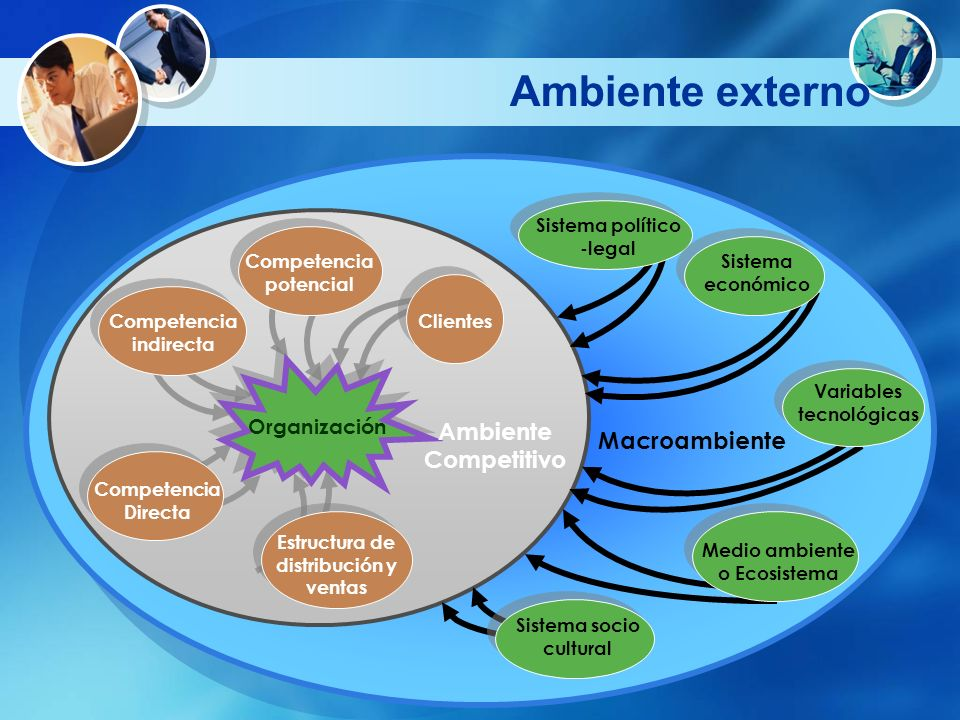 Ambiente externo Ambiente Competitivo Macroambiente Organización