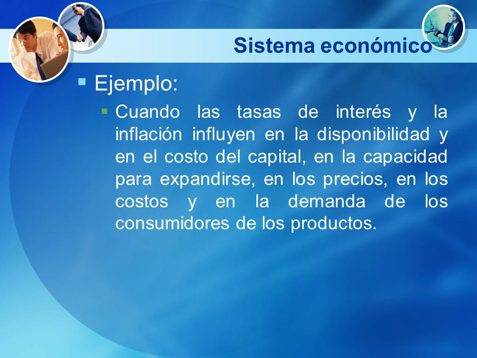 Sistema económico Ejemplo:
