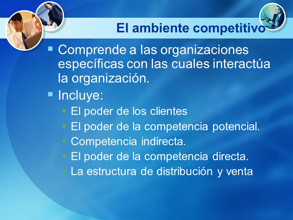 El ambiente competitivo