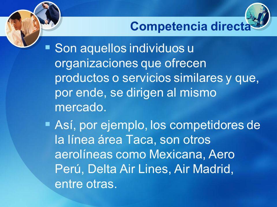 Competencia directa