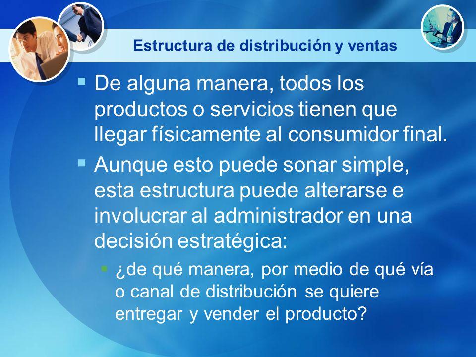 Estructura de distribución y ventas