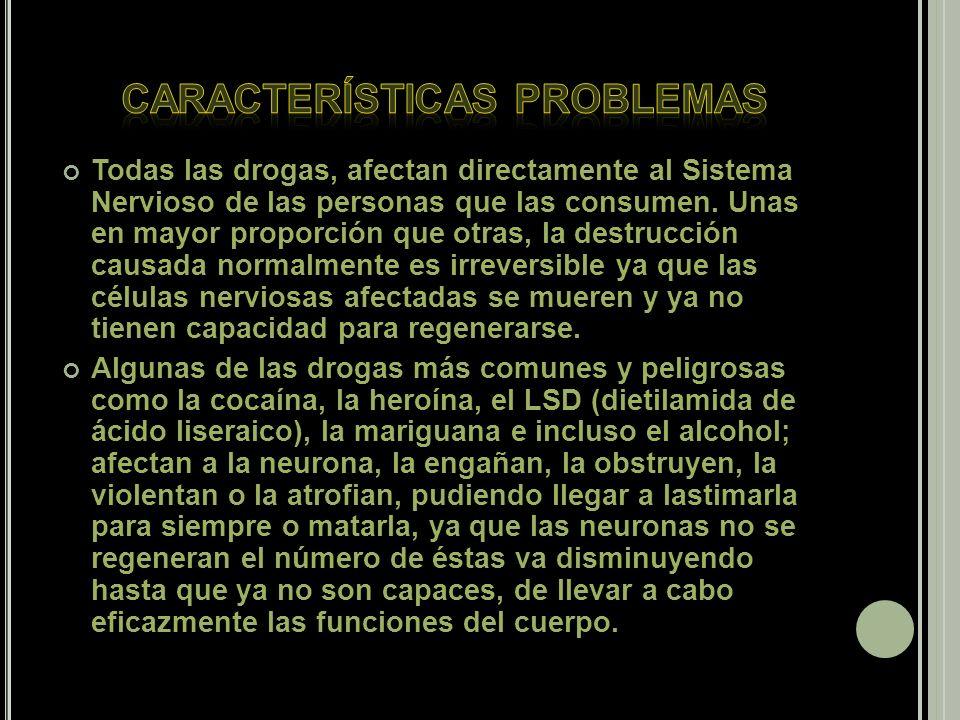 CARACTERÍSTICAS PROBLEMAS